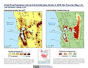 Map: Population & Land Area Estimates (2010): San Francisco Bay