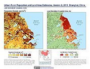 Map: Population & Land Area Estimates (2010): Shanghai, China