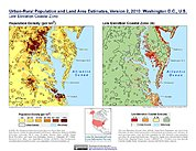 Map: Population & Land Area Estimates (2010): Washington DC