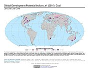 Map: Development Potential Indices (2016): Coal