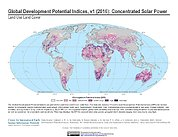 Map: Development Potential Indices (2016): Concentrated Solar Power