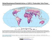 Map: Development Potential Indices (2016): Photovoltaic Solar Power