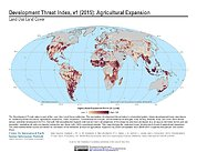 Map: Development Threat Index (2015): Agricultural Expansion