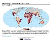 Map: Development Threat Index (2015): Solar