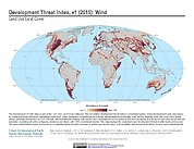 Map: Development Threat Index (2015): Wind