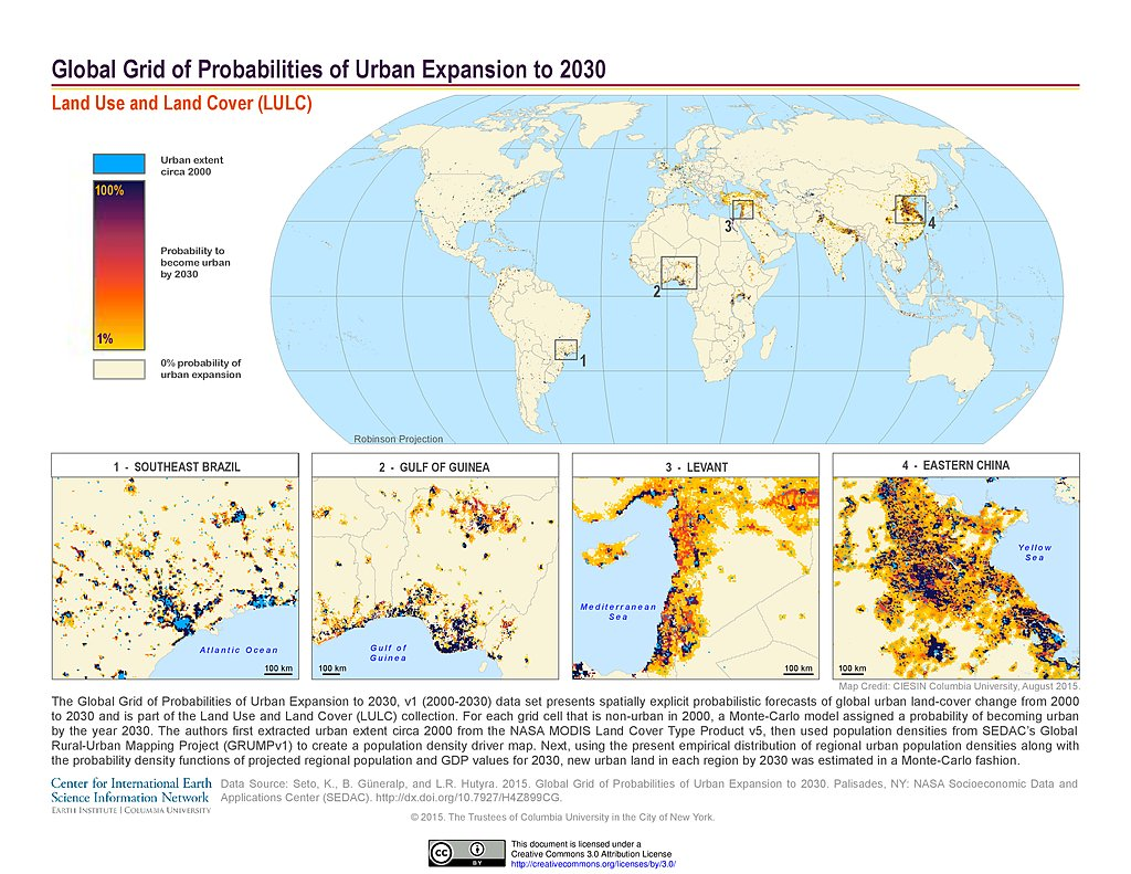Maps » Land Use and Land Cover (LULC) | SEDAC
