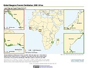 Map: Mangrove Forests Distribution (2000): Africa