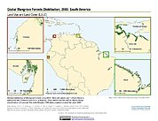 Map: Mangrove Forests Distribution (2000): South America