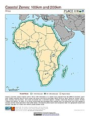 Map: 100 km & 200 km Coastal Zones: Africa