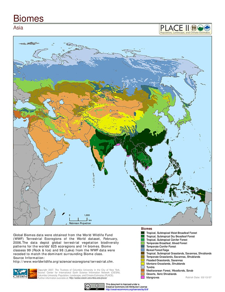 Climate Zone Map Of Asia.Map Gallery Sedac
