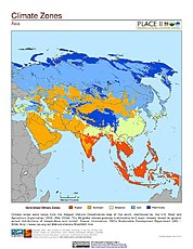 Map: Climate Zones: Asia