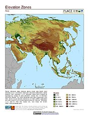Map: Elevation Zones: Asia