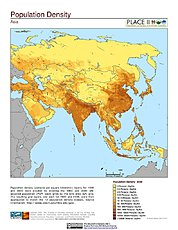 Map: Population Density: Asia