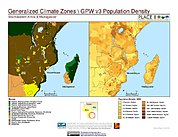 Map: Biomes & Pop Density: Southeastern Africa & Madagascar