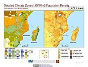 Map: Climate Zones & Population Density: Southeastern Africa & Madagascar