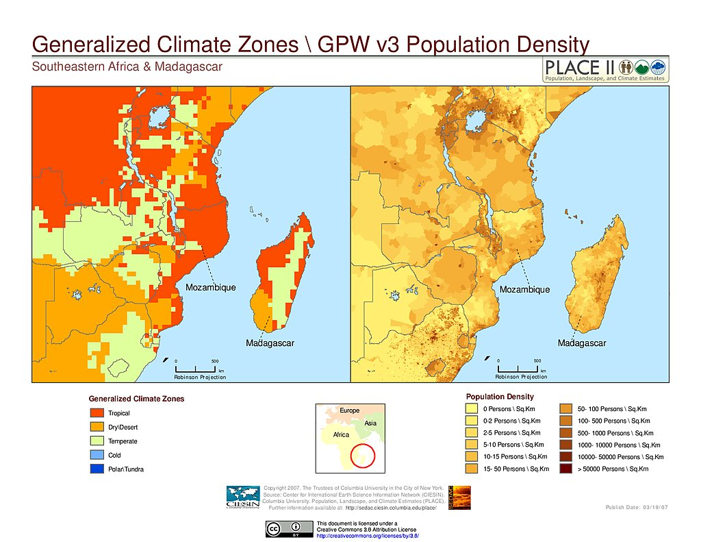 Maps Population Landscape And Climate Estimates PLACE v2 SEDAC