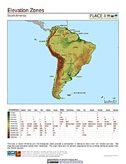 Map: Elevation Zones with Histogram: South America