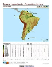 Map: Population Living in Climate Zone (%): South America