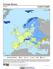 Map: Climate Zones: Europe