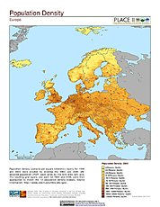 Map: Population Density: Europe
