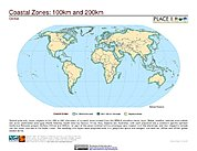 Map: 100 km & 200 km Coastal Zones