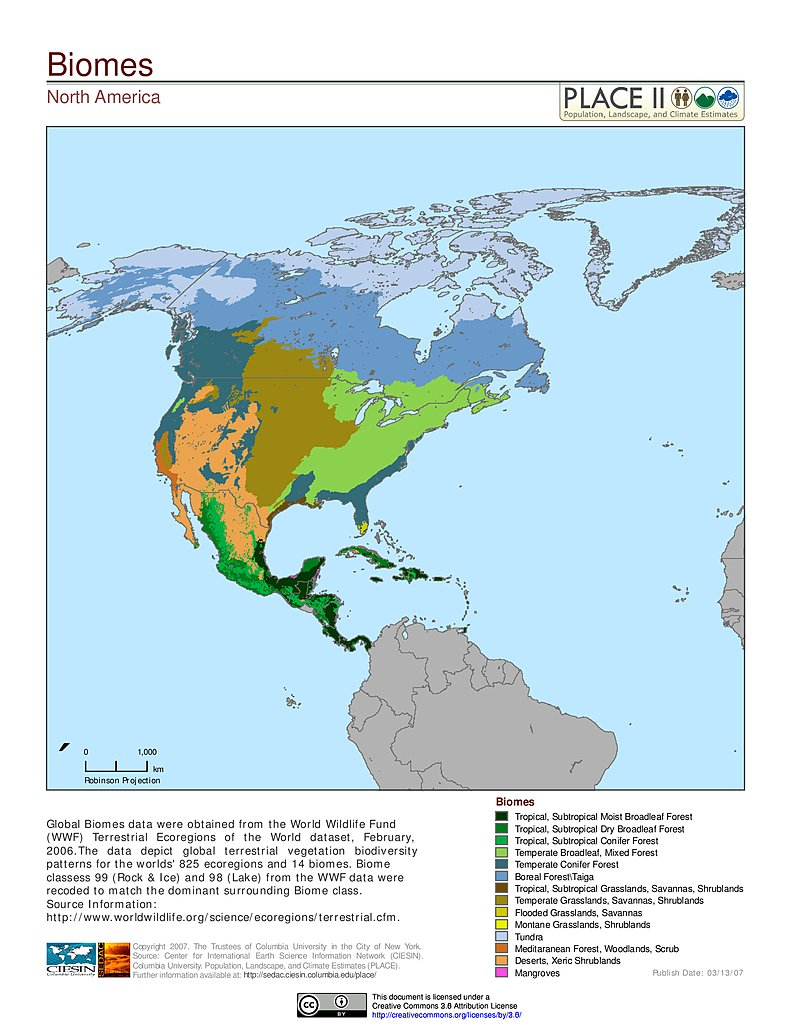 Maps  Population Landscape And Climate Estimates PLACE V - Map of north america climate