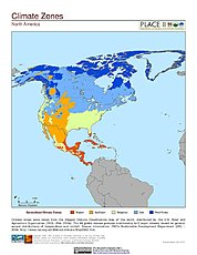 Map: Climate Zones: North America