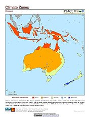 Map: Climate Zones: Oceania