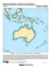 Map: 100 km & 200 km Coastal Zones: Oceania