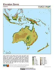 Map: Elevation Zones: Oceania