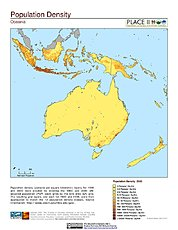Map: Population Density: Oceania