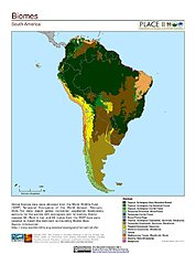 Map: Biomes: South America