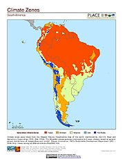Map: Climate Zones: South America