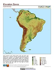 Map: Elevation Zones: South America