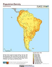 Map: Population Density: South America