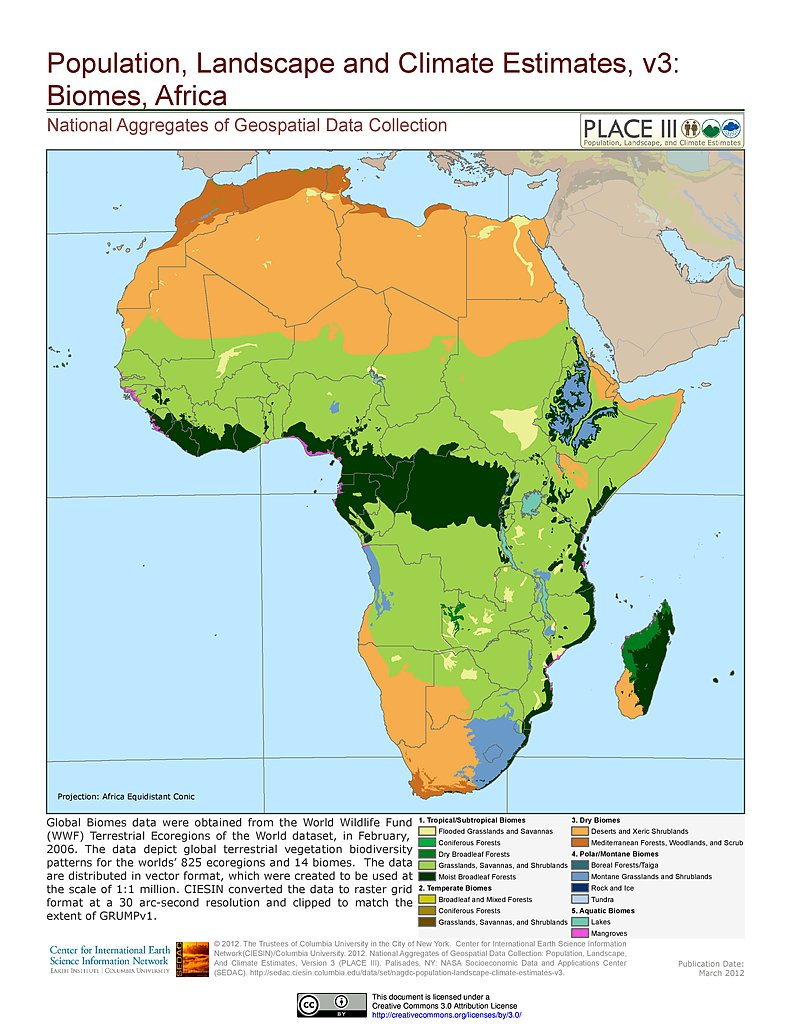 Map gallery sedac biomes africa gumiabroncs Choice Image