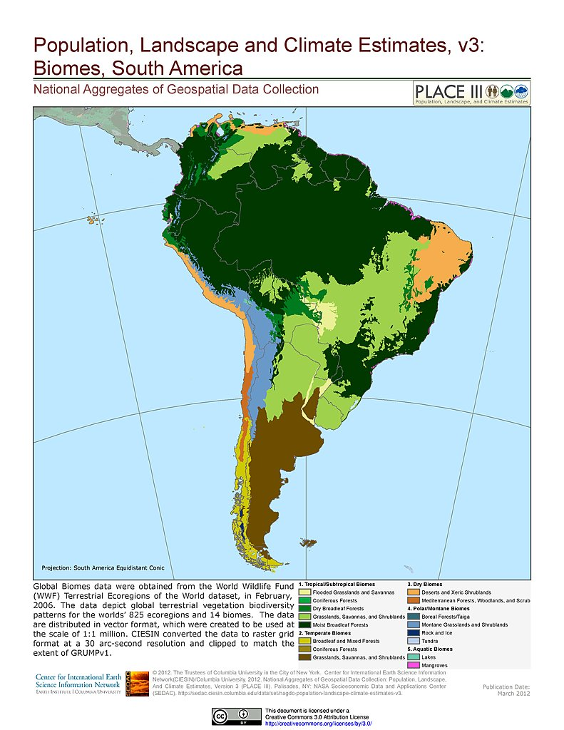 Biomes Of North America Map.Maps Population Landscape And Climate Estimates Place V3 Sedac