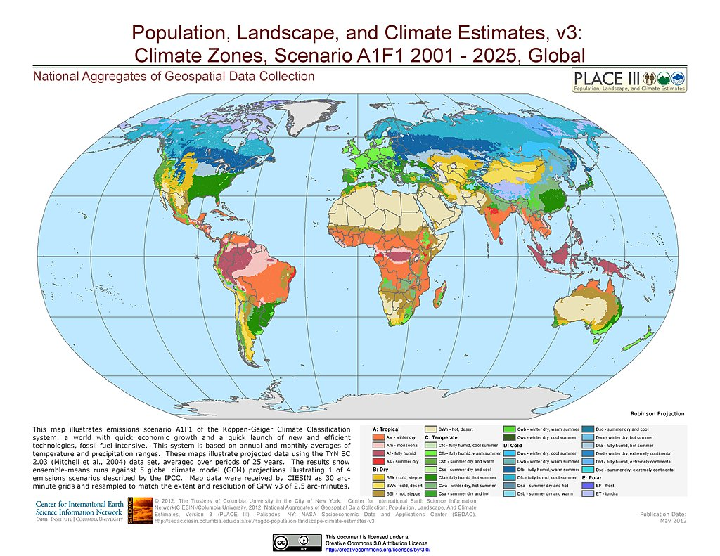 Maps  National Aggregates Of Geospatial Data Collection NAGDC - Us map climate zones