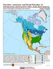 Map: A1F1 - Climate Zones (2001-2025): North America