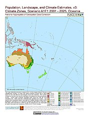 Map: A1F1 - Climate Zones (2001-2025): Oceania