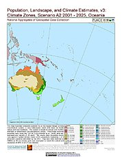 Map: A2 - Climate Zones (2001-2025): Oceania
