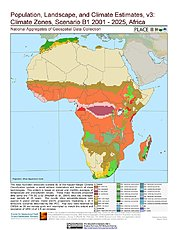 Map: B1 - Climate Zones (2001-2025): Africa