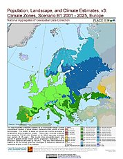 Map: B1 - Climate Zones (2001-2025): Europe