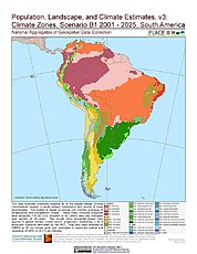Map: A2 - Climate Zones (2001-2025): South America