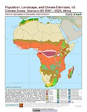 Map: B2 - Climate Zones (2001-2025): Africa