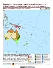 Map: B2 - Climate Zones (2001-2025): Oceania