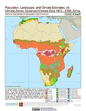 Map: Climate Zones, Observed Climate Data (1976-2000): Africa