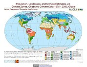 Map: Observed Climate Data - Climate Zones (1976-2000)