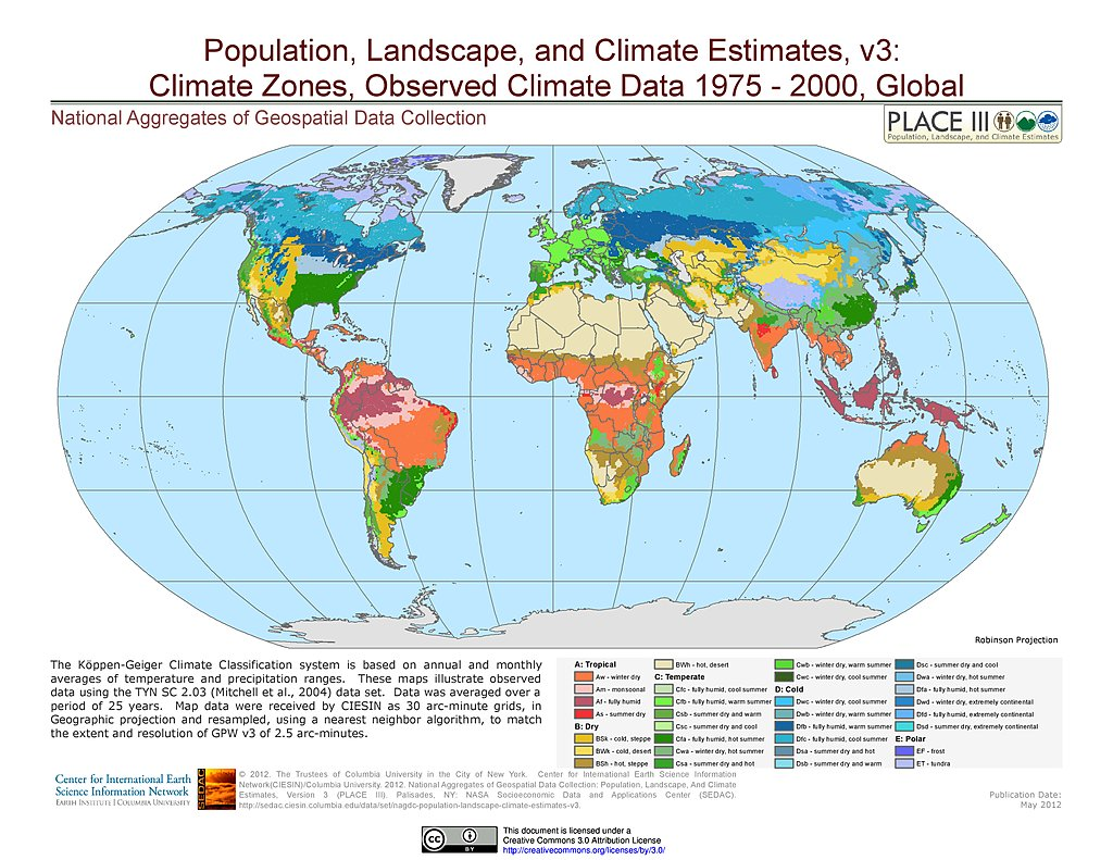 Delightful Observed Climate Data   Climate Zones (1976 2000)