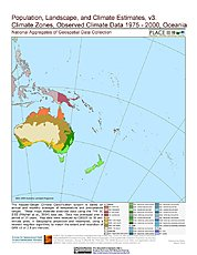 Map: Observed Climate Data - Climate Zones (1976-2000): Oceania